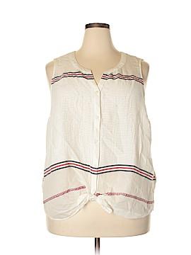Lucky Brand Sleeveless Button-Down Shirt Size 3X (Plus)