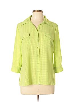 Kim Rogers Short Sleeve Blouse Size L (Petite)