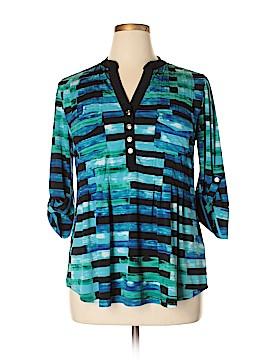 Avenue 3/4 Sleeve Button-Down Shirt Size 14 - 16 Plus (Plus)