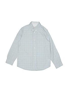 Jacadi Long Sleeve Button-Down Shirt Size 8