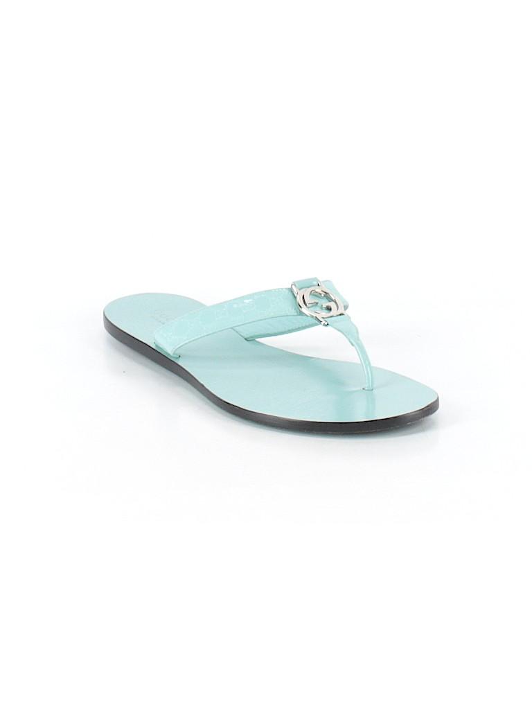 126e8666fa9 Gucci Solid Light Blue Flip Flops Size 37.5 (IT) - 78% off