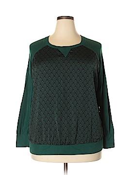 Halogen Long Sleeve Blouse Size 1X (Plus)