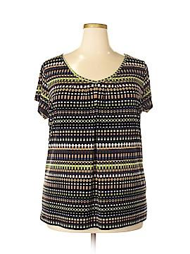 Liz & Co Short Sleeve Top Size 1X (Plus)