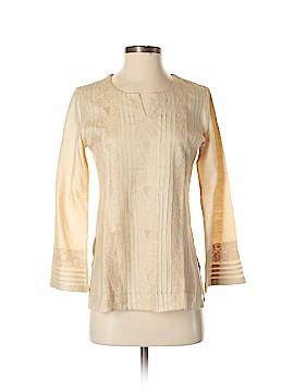 Fabindia Long Sleeve Silk Top Size S
