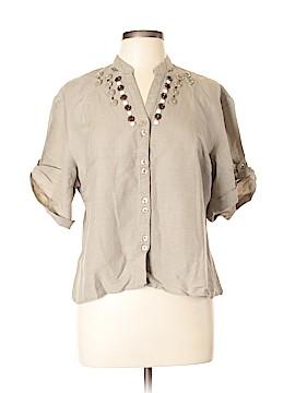 Sherry Taylor Short Sleeve Blouse Size XL