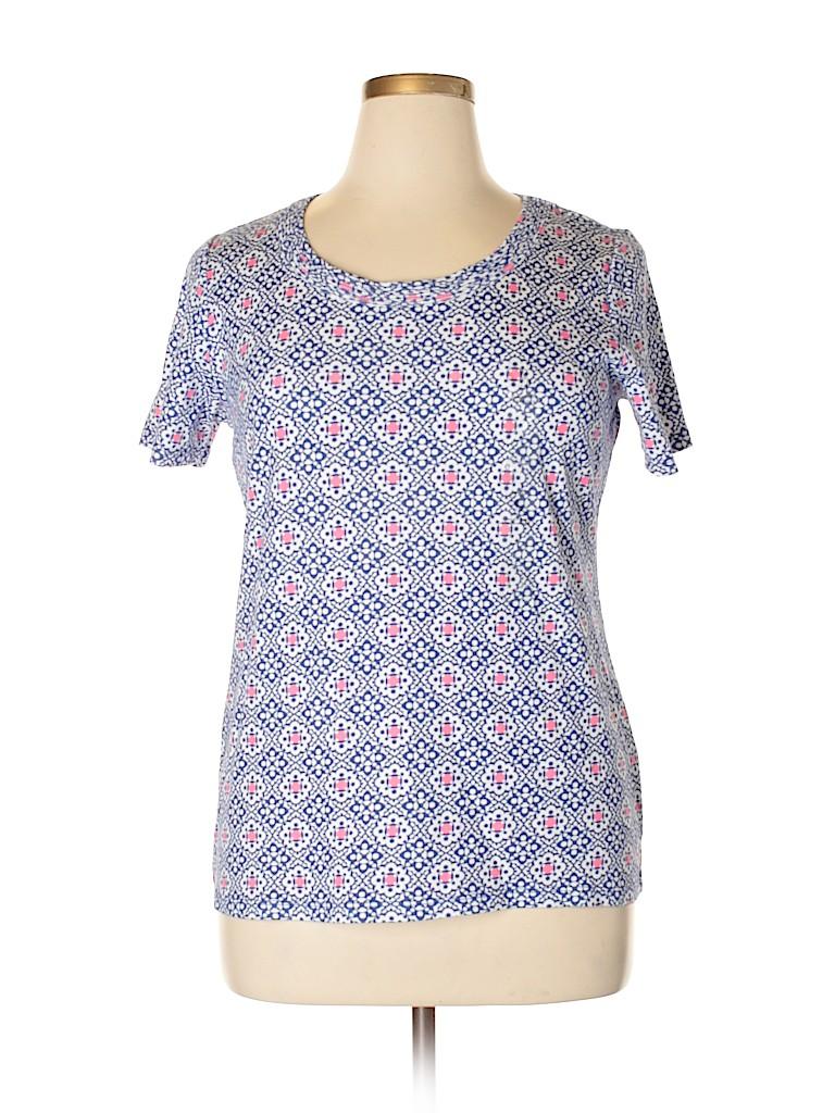 Charter Club Women Short Sleeve T-Shirt Size 0X (Plus)