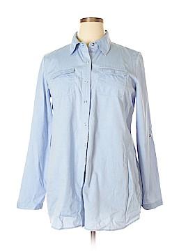 Zoe D. Long Sleeve Button-Down Shirt Size XL