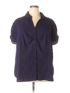 Como Short Sleeve Button-Down Shirt Size 3X (Plus)