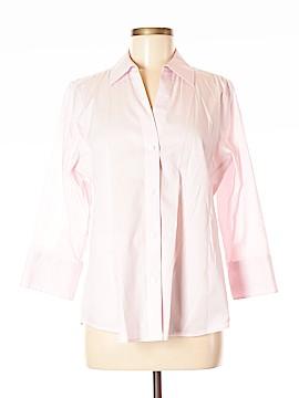 Foxcroft 3/4 Sleeve Button-Down Shirt Size M