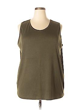 Karen Scott II Sleeveless T-Shirt Size 2X (Plus)