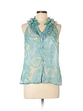 Elena Solano Sleeveless Silk Top Size M