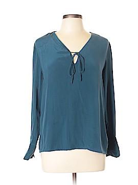 Ecru Long Sleeve Silk Top Size L