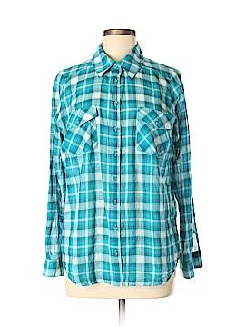 Bass Long Sleeve Button-Down Shirt Size M