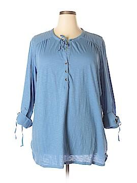 CALVIN KLEIN JEANS 3/4 Sleeve Button-Down Shirt Size 2X (Plus)