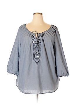 Lauren Jeans Co. 3/4 Sleeve Blouse Size 2X (Plus)