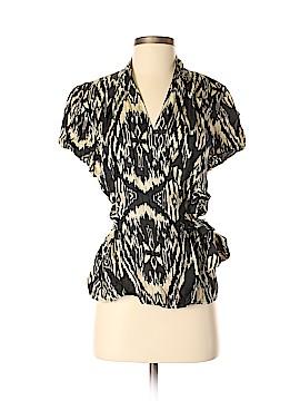 Jones New York Collection Short Sleeve Silk Top Size 8