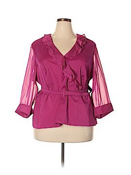 Alex Evenings 3/4 Sleeve Blouse Size 3X (Plus)