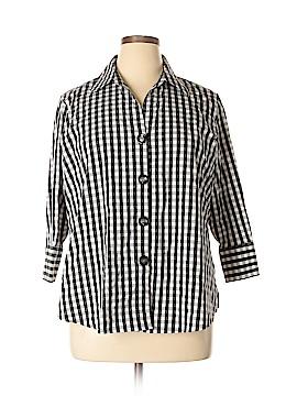 Shape 3/4 Sleeve Button-Down Shirt Size 15 (Plus)