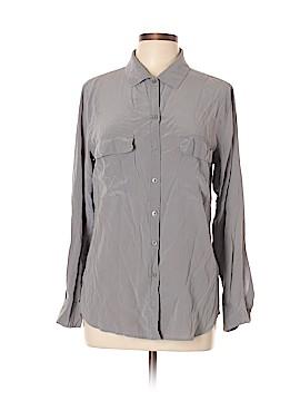 Trulli Long Sleeve Silk Top Size M