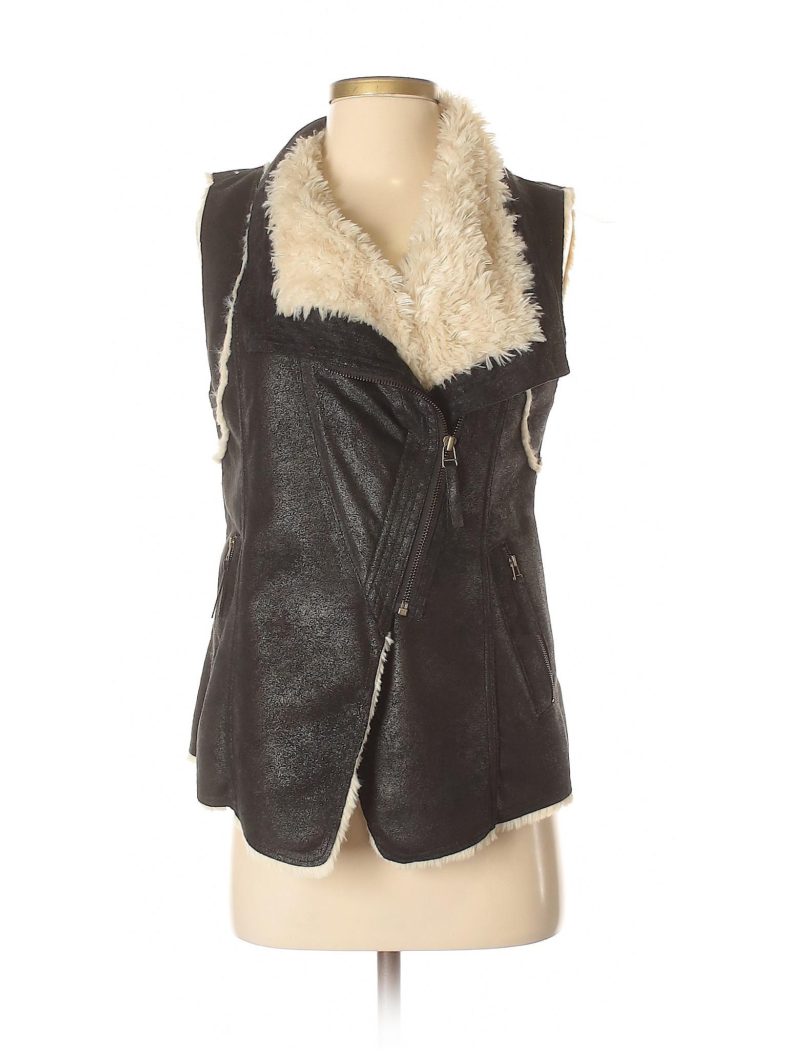 Vest Island Plastic Fur Faux Boutique xwq4F1COn