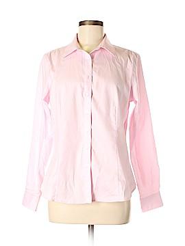 Ellen Tracy Long Sleeve Button-Down Shirt Size M