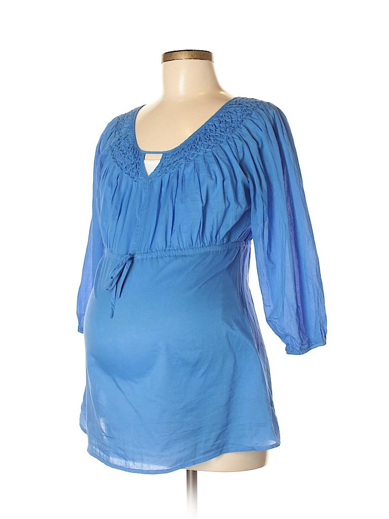 Liz Lange Maternity for Target Women 3/4 Sleeve Blouse Size M (Maternity)