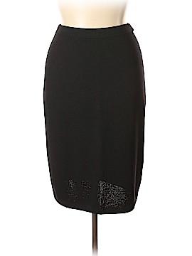 St. John Caviar Wool Skirt Size 12
