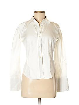 Saks Fifth Avenue Long Sleeve Button-Down Shirt Size 6 (Petite)