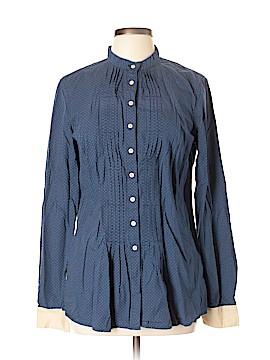 Sisley Long Sleeve Button-Down Shirt Size L