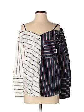 Mango Long Sleeve Button-Down Shirt Size 4