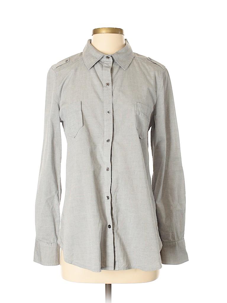 PJK Patterson J. Kincaid Women Long Sleeve Button-Down Shirt Size S