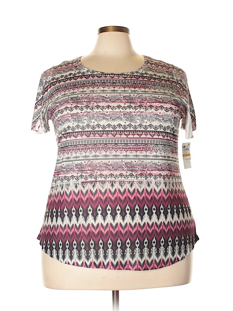 Style&Co Women Short Sleeve Top Size 3X (Plus)