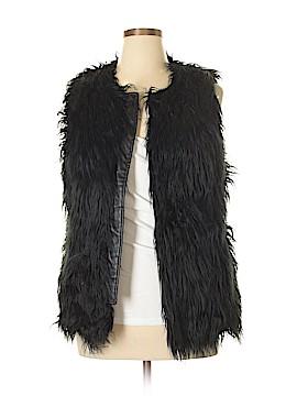 INC International Concepts Faux Fur Vest Size XL