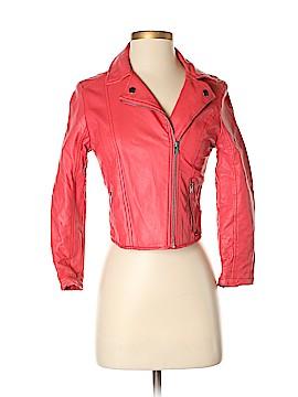 Hollister Faux Leather Jacket Size S