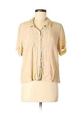 April Cornell Short Sleeve Button-Down Shirt Size M