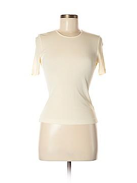 Anne Klein Short Sleeve Silk Top Size P (Petite)