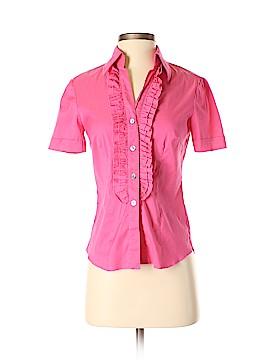 Trina Turk Short Sleeve Button-Down Shirt Size S