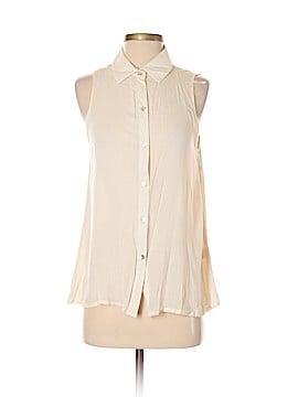 Francesca's Short Sleeve Blouse Size M