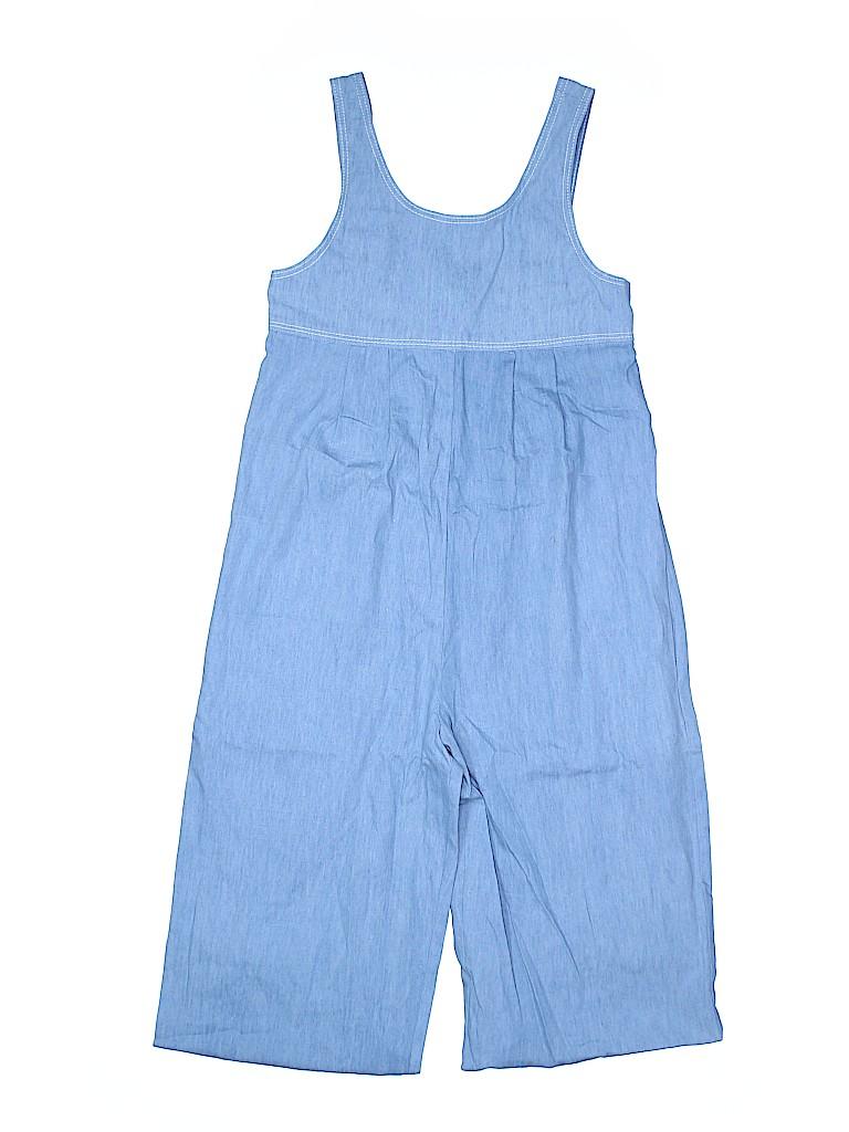 f2bef4c4e973 Zara 100% Cotton Chambray Blue Jumpsuit Size 12 - 52% off