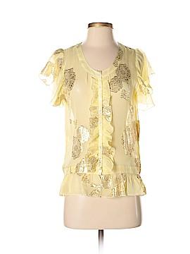 La Rok Short Sleeve Silk Top Size S