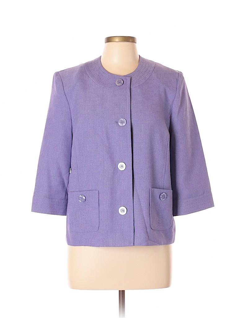 Alfred Dunner Women Blazer Size 12 (Petite)