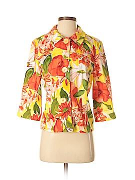 Erin London 3/4 Sleeve Button-Down Shirt Size S