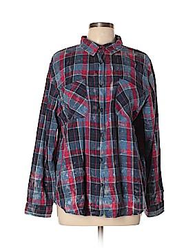 Hippie Laundry Long Sleeve Button-Down Shirt Size XL