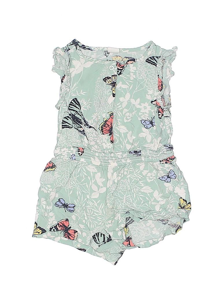 481f179abfd Baby Gap 100% Rayon Print Green Romper Size 18-24 mo - 60% off