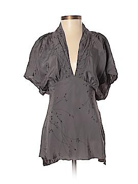 Harkham Short Sleeve Silk Top Size S