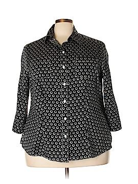 Foxcroft 3/4 Sleeve Button-Down Shirt Size 20W (Plus)
