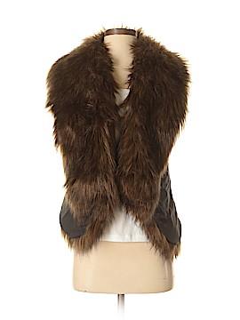 Simply Vera Vera Wang Faux Fur Vest Size S