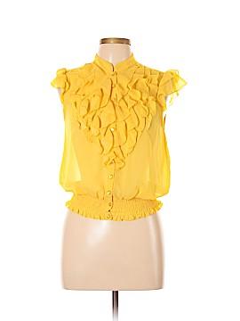 Antilia Femme Short Sleeve Button-Down Shirt Size L