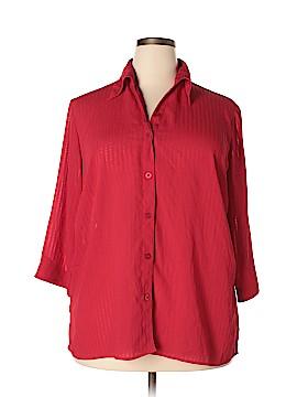 Elementz 3/4 Sleeve Blouse Size 2X (Plus)