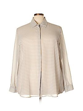 Lane Bryant Outlet Long Sleeve Button-Down Shirt Size 22 - 24 Plus (Plus)